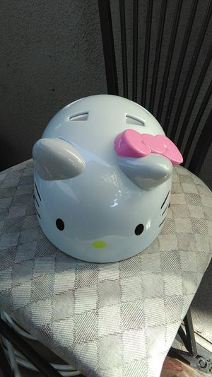 Girls Hello Kitty bike riding helmet in like brand new condition for Sale in Orange, CA