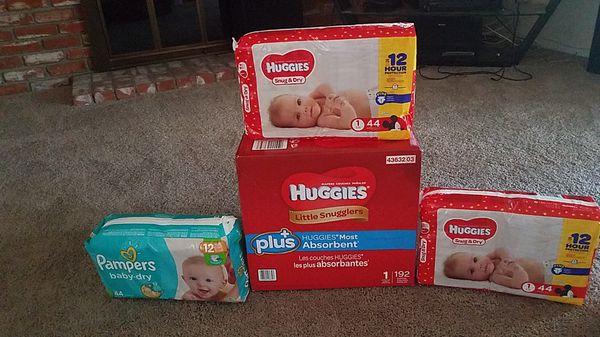 Huggies nd pampers 324 diapers