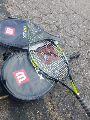 Tennis rackets with case x2 wilson for Sale in Arvada, CO