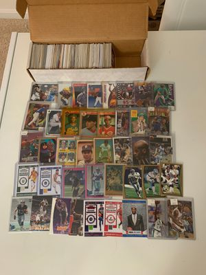 Big box filled with sports cards baseball basketball football for Sale in Fairfax, VA