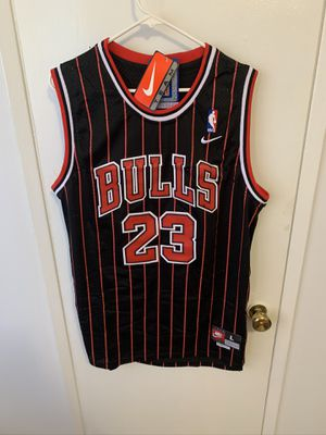 Michael Jordan #23 black and red pinstriped Chicago bulls jersey for Sale in Los Angeles, CA