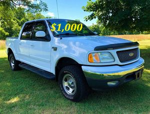 🍏🟢💲1,OOO For sale URGENTLY this Beautiful💚2002 Ford F150 nice Family truck XLT Super Crew Cab 4-Door Runs and drives very smooth V8🟢 for Sale in St. Pete Beach, FL