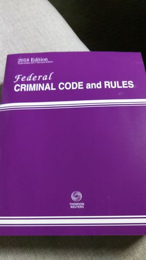 2018 federal criminal code and rules for Sale in Boston, MA