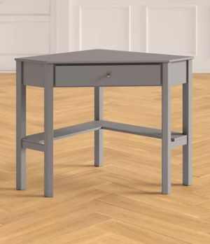 Brand new - wood corner desk in grey - with drawer and shelf for Sale in Phoenix, AZ