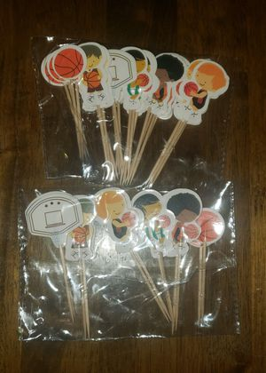 Basketball banner and cupcake toppers for Sale in West Covina, CA