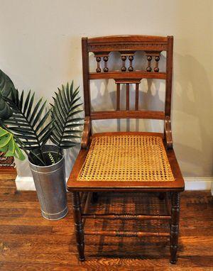 Vintage wood/cane chair for Sale in Atlanta, GA