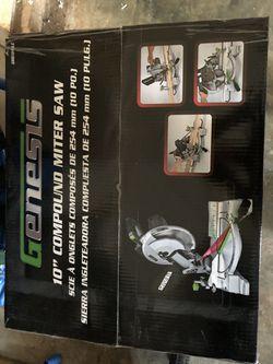 Genesis compound miter saw (new in box) for Sale in Prattville,  AL