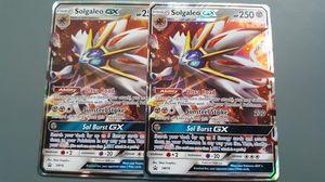 Solgaleo GX Promo x2 Set Pokemon Cards for Sale in Phoenix, AZ