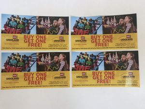4 Legoland Ticket BOGO Coupons for Sale in Fort Lauderdale, FL