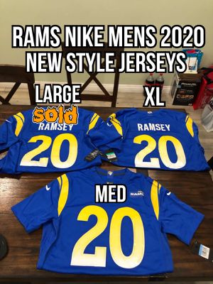 NFL Nike Game day Los Angeles Rams #20 Jalen Ramsey new 2020 royal blue men's jerseys size medium and xl for Sale in La Puente, CA