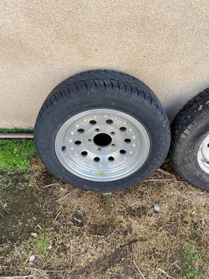 5 lug trailer wheel tire aluminum rim spare 185/60/14, 185/60r14 for Sale in Long Beach, CA