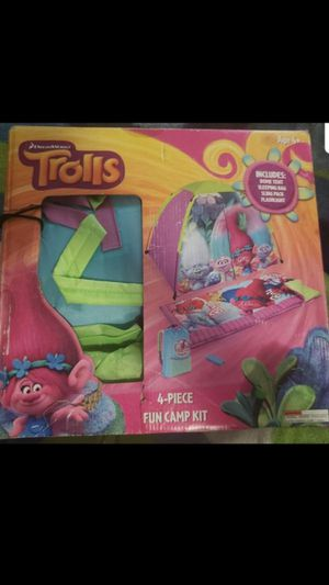 Trolls Camp Kit $25.00 PICK UP ASAP for Sale in San Bernardino, CA