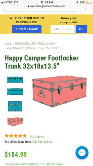"""Happy Camper Footlocker Trunk 32"""" for Sale in Portland, OR"""