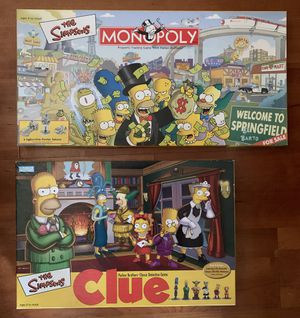 The Simpsons Monopoly and Clue Board Games for Sale in Denver, CO