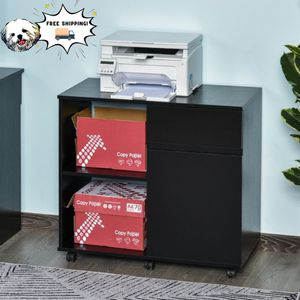 White/Black Filing Càbinet/Printer Stànd with Open Storàge Shèlves, for Hōme or Office Use for Sale in Los Angeles, CA