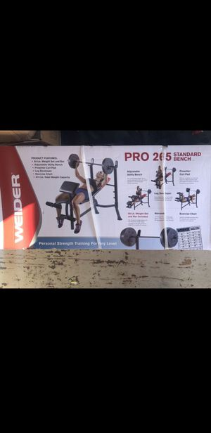 Weider 265 bench press with 80lbs in weight included-NEW IN BOX- for Sale in Long Beach, CA