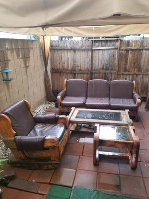 Patio furniture (wood) for Sale in Downey, CA