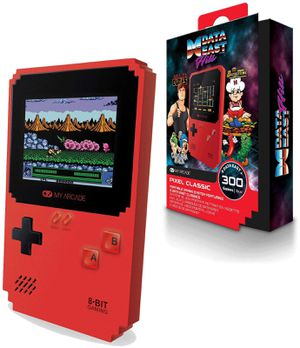 MY ARCADE Pixel Classic Portable Handheld 300 Builtin Video Games+Data East Hits for Sale in Chino, CA