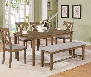 Dining table set. New in boxes. Price is firm 3KDE4 for Sale in Pomona, CA