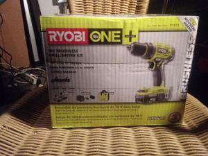 Ryobi 18v brushless drill driver kit brandnew for Sale in Everett, WA