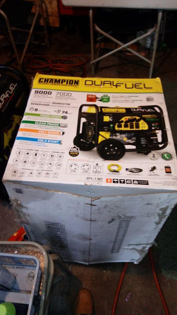 Champion generator new
