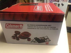 Coleman 24 piece dinnerware set for Sale in San Diego, CA