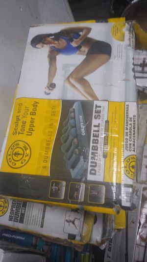 Gold's Gym 6 dumbbells in one set for Sale in Philadelphia, PA