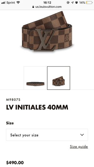 Louis Vuitton Belt 110/44 for Sale in Westminster, CO