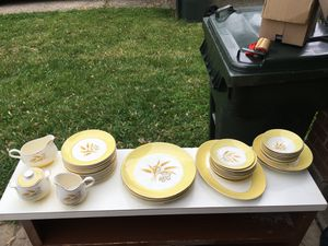 Century service corporation autumn gold dinnerware set for Sale in Dayton, OH