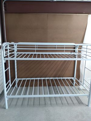 Beautiful White Twin / Twin Bunk Bed On Sale ( was 299 ) for Sale in Davenport, FL