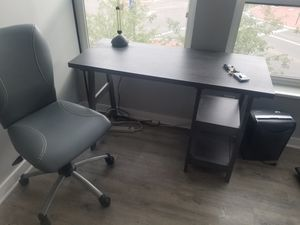 Nice grey desk and chair for Sale in Columbus, OH