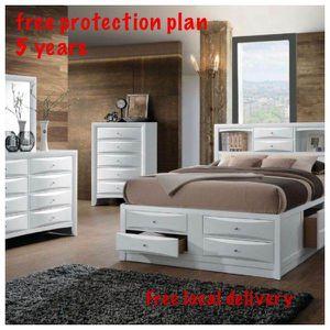 Queen frame. Dresser. Mirror one night stand. Check description 9N6 for Sale in Pomona, CA