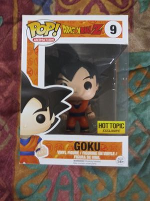Goku Funko pop hot topic exclusive #09 dragon ball z for Sale in Pasadena, TX