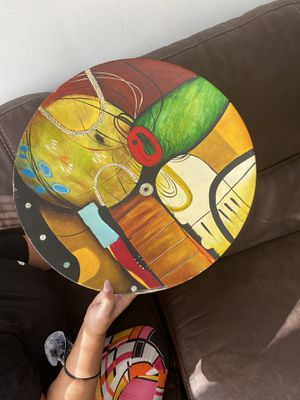 Picasso style painting w display plate for Sale in Los Angeles, CA