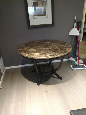 """Marble top round table, 45"""" for Sale in Fairfax Station, VA"""