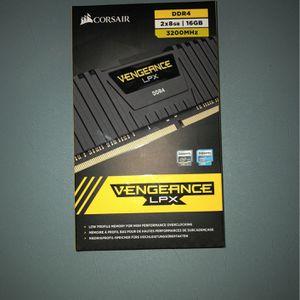 Corsair Vengeance LPX DDR4 2x8GB 16GB 3200Mhz RAM Memory for Sale in Placentia, CA