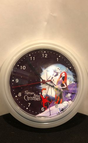 "10"" wall clock Nightmare Before Christmas for Sale in Castro Valley, CA"