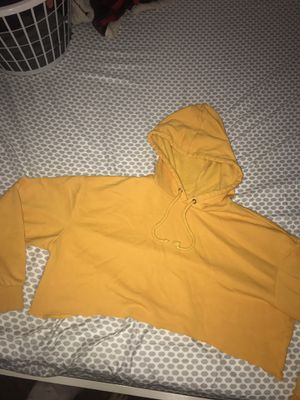 yellow cropped hoodie for Sale in Gladstone, OR