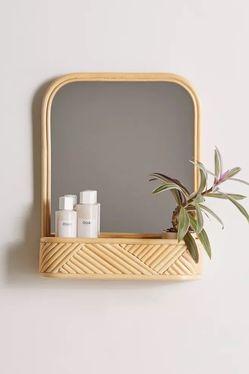 Urban Outfittera Rattan Mirror & Shelf for Sale in San Francisco,  CA