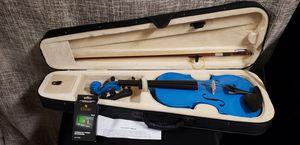 Mendini 4/4 MV-Blue Solid Wood Blue Violin for Sale in Buena Park, CA