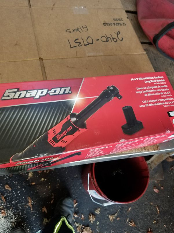 """Snap On Tools 3/8"""" Drive MicroLithium 14.4V Long Neck Ratchet"""