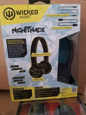 WICKED AUDIO NIGHTSHADE BLUETOOTH HEADPHONES for Sale in Bakersfield, CA
