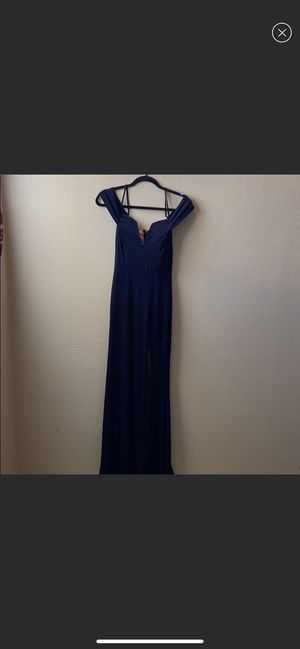 Prom Dress In Navy Blue for Sale in Ontario, CA