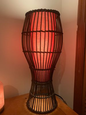 Lamp Red Bamboo/ Table Lamp for Sale in Miami, FL