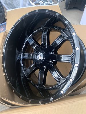 """Brand new 20x12 Black RDR Rims 20"""" off road Wheels 20 Rines (Rims Only, No tires) available in any bolt pattern 5 , 6 , 8 lug ! F150 Super duty F250 for Sale in Dallas, TX"""