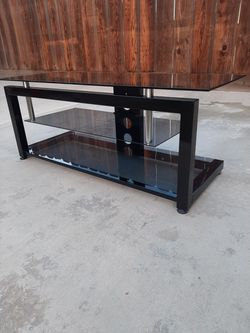 TV Stand, Black Metal And Glass for Sale in Visalia,  CA
