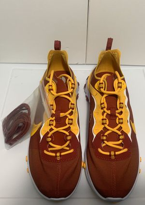 New Nike React Element 55 USC Trojans NCAA Shoes Men's size 9.5 for Sale in Columbia, SC