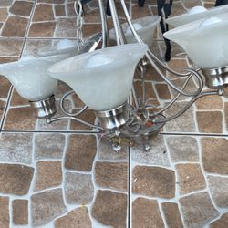 Chandelier Silver Very Good Condition's For Your Dining Area . for Sale in Fort Lauderdale,  FL