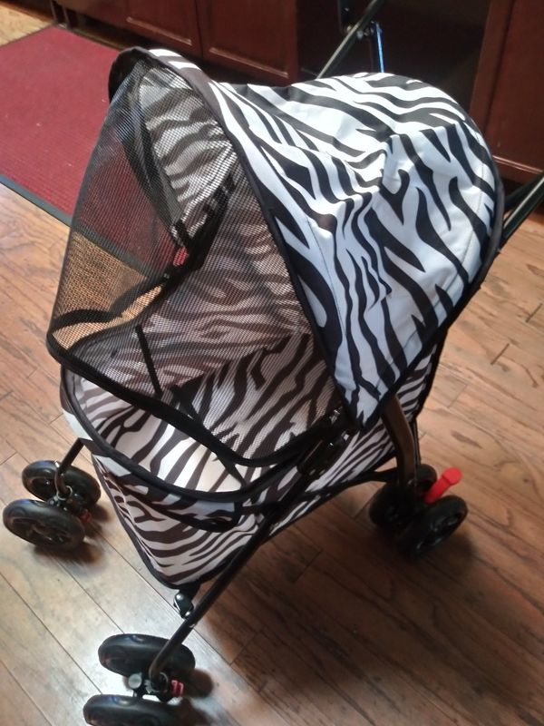 New zebra print dog stroller