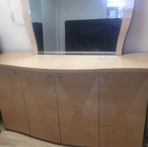 Kitchen buffet table and matching mirror for Sale in Los Angeles, CA